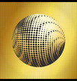set abstract halftone 3d spheres 38 vector image vector image