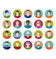 set people flat icons vector image vector image