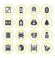 Set round icons of elevator and lift vector image