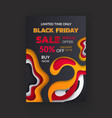 special promo card half price black friday sale vector image