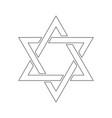 star of david hexagram sign symbol of jewish vector image vector image