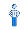 team member line icon vector image vector image