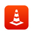 traffic cone icon digital red vector image vector image