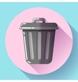 Trash can icon Recycle Bin Garbage Flat vector image vector image