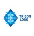 triangle logo symbol vector image