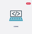 two color coding icon from strategy concept vector image vector image