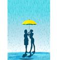Umbrella in the rain vector image vector image