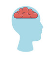 user profile with brain silhouette avatar icon vector image