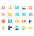 video silhouette icons set pictograms vector image vector image
