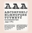 vintage grunge and tattoo comic abc font vector image vector image
