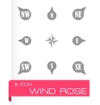 wild rose icon set vector image