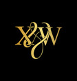xw x w logo initial mark vector image