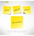 Yellow note sticker with message Paper reminder vector image vector image