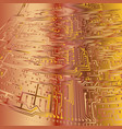 abstract background electronic board gold and vector image