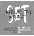 alphabet set handwritten vector image