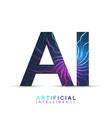 artificial intelligence logo artificial vector image