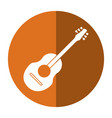 guitar traditional acoustic music shadow vector image