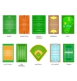 Playing fields set vector image