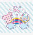 hello baby cute cartoons card