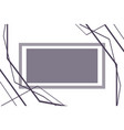 abstract monochrome figure background icon vector image vector image