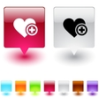 add to vavorite square button vector image vector image