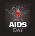 aids awareness symbol world aids day concept vector image