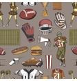 American Football Seamlees pattern vector image vector image