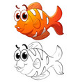 animal outline for clownfish vector image vector image