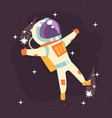 astronaut in space suit at spacewalk vector image vector image