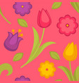background seamless pattern with spring vector image vector image