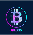 bitcoin physical bit coin digital vector image