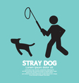 Black Symbol Stray Dog vector image vector image