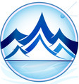 blue mountains logo icon template vector image vector image