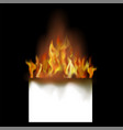 burning white paper vector image vector image