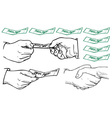 business hands vector image vector image