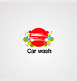 car wash logo icon element and template for vector image vector image