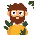 caveman manly boy hunting outdoors flat vector image