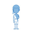 character girl student people line vector image