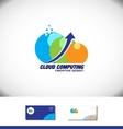 Cloud computing arrow logo vector image vector image