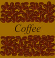 coffee beans on brown background vector image vector image