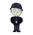 comic cartoon man in bowler hat vector image vector image