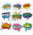 comic speech bubble element vector image