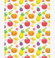 cute fruits collection vector image vector image