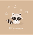 cute little raccoon vector image