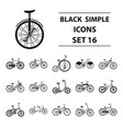 different models of bicycles different bicycle vector image