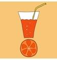 Doodle grapefruit juice vector image vector image