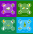 ecology concept banner set 3d isometric view vector image vector image