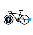 electro bike symbol vector image