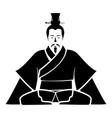 emperor of china icon black icon flat vector image