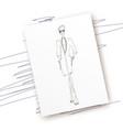 fashion-coat-paper vector image